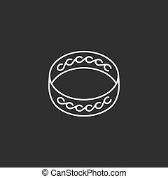 Ring icon. Outline vector icon