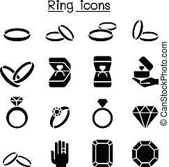 Ring icon set