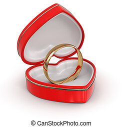 ring in the heart box