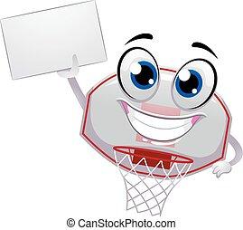 Ring Mascot hold blank board