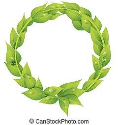 ring, od, liście