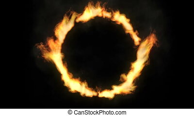 Ring of fire in slow motion
