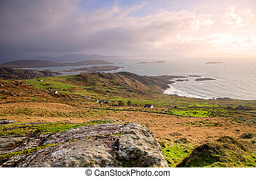 beauty spot overlooking atlantic ocean, on the Ring Of Kerry