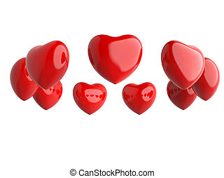 Ring of red hearts