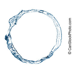 Ring of water. Picture was made in a studio