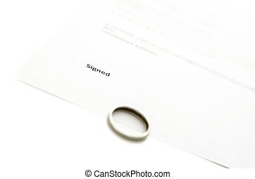 Ring on divorce papers
