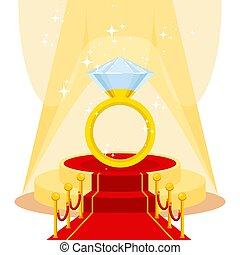 ring on red carpet