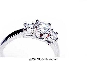 Ring on white - Wedding Ring or Engagement Ring on white