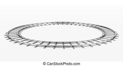Ring railway isolated on a white background
