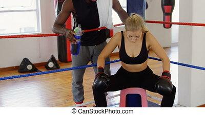 ring, relaxen, boxing, bokser, vrouwlijk, 4k