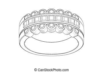 ring, trouwfeest