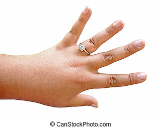 ring, verlobung , diamant