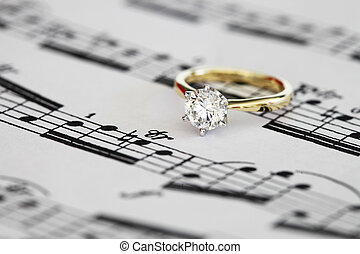 ring, verlobung , solitär
