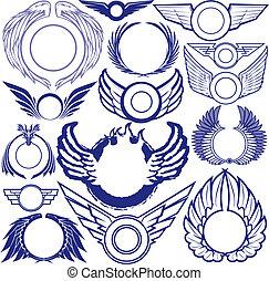 ring, vinge, samling