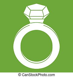 Ring with gemstone icon green