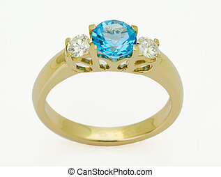 ring with the diamond - ring with the  blue diamond