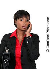 ringa, afro-amerikansk kvinna, ung