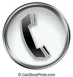 ringa, grå, ikon