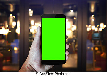ringa, hand, nymodig, mobil
