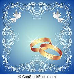 ringe, zwei, tauben, wedding