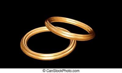 ringen, twee, goud
