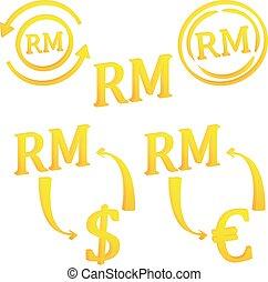 ringgit, malaysian, malaysia, valuta, icona, simbolo