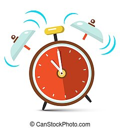 Ringing Alarm Clock Vector Icon