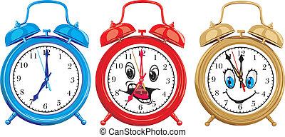 ringing alarm clocks