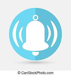 Ringing bell icon on a white background