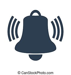 Ringing bell icon on white background.