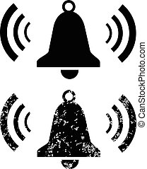 Ringing bell icons set