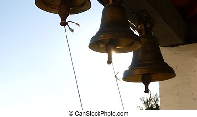 Ringing bells in an orthodox temple