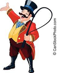 Ringmaster - Illustration of graceful ringmaster