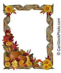 ringraziamento, autunno, cadere, fondo