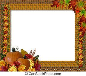 ringraziamento, cadere, autunno, bordo