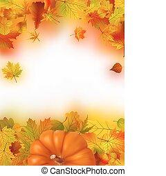 ringraziamento, cadere, autunno, fondo
