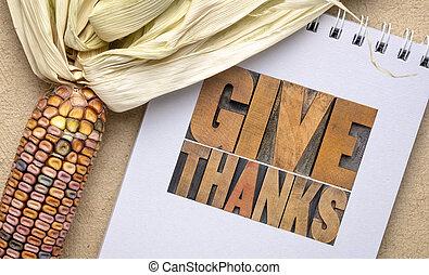 ringraziamento, -, giorno, ringraziamento, concetto, dare