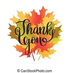 ringraziamento, leaves., acero, giorno, scheda, felice
