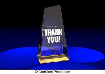 ringraziare, illustrazione, apprezzamento, premio, parole, lei, riconoscimento, 3d