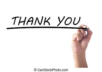 ringraziare, mano, asse, lei, scrittura, trasparente