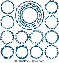 Rings and Circlets - Clip art collection of rings and circle...