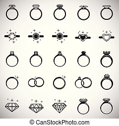 Rings icon set on white background for graphic and web design, Modern simple vector sign. Internet concept. Trendy symbol for website design web button or mobile app.