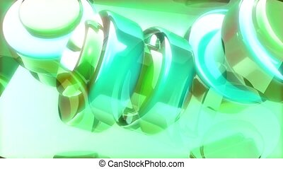 Rings in Blue Green