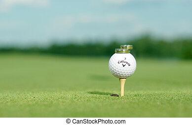 Rings in golf field