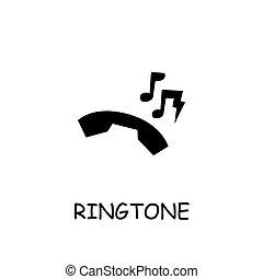 ringtone, ベクトル, アイコン, 平ら