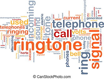 Ringtone word cloud - Word cloud concept illustration of...