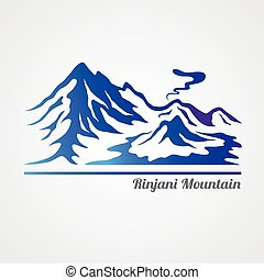 Rinjani mountain - Graphic of rinjani mountain (volcano) ,...