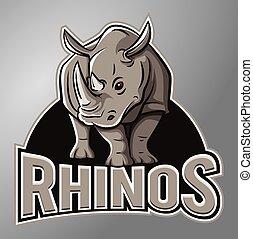 rinoceronte, mascota