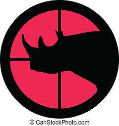 rinoceronte, scopo, -, serie