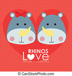 rinocerontes, diseño